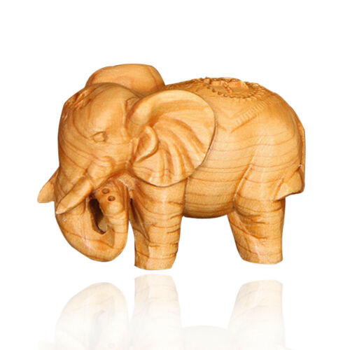 Hand Carved Elephant Figure Sculpture Home Decor Figurines Vintage New Style!