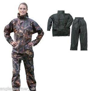 Ocean Comfort Stretch Set Camouflage Or Black Trousers Amp Jacket 20 54 Ebay