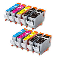 10 Replacement Printer Ink Set for Canon PGI-5BK CLI-8 iP4300 MP830 iP5200 MP500