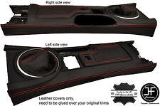 Red Stitch Ghetta Console & Bracciolo in pelle copre per Mazda MX5 MK3 3.5 09-15
