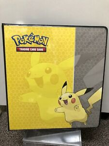 Pokemon Pikachu Binder Bulbasaur Pocket Album Card Portfolio Holder Cards Pro