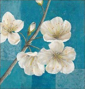 Jürgen Gottschlag: Blossom Rough Keilrahmen-Bil<wbr/>d Leinwand Blumen Blüten weiss
