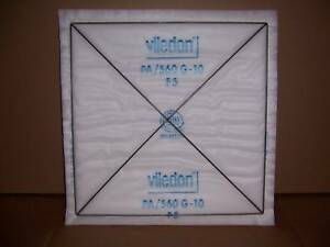 Viledon pa 560 filter panels spray paint booth 20 x20 ebay for Paint booth filters 20x20
