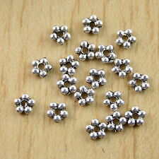 Lead-free Lot 200pcs Tibetan Silver//Gold Star-shaped Spacer Beads 4.5x2.5mm