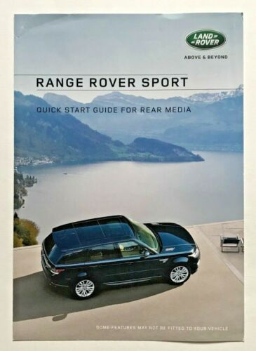 2016 Land Range Rover Sport HSE Supercharged Owners Navigation Manual Book Set