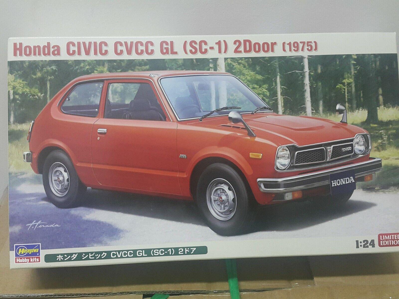 Hasegawa 1  24 Honda Civic CVCC GL (SC -1) 2Dr modellllerler Bil Kit
