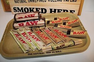 Super Raw Rolling Paper Combo Tray Papers Tips 2 Rolling