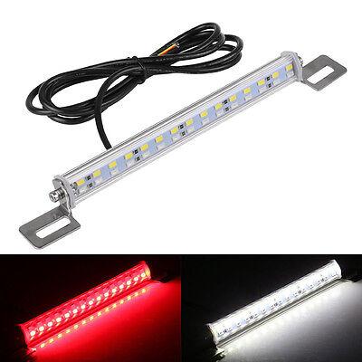 1 Universal Red White LED Lamp License Plate Backup Brake Rear Reverse Fog Light