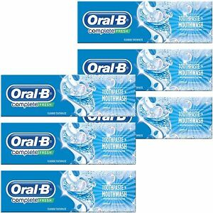 6x-Oral-B-Complete-Pro-Toothpaste-amp-Mouthwash-2-in-1-Refreshing-Peppermint-100ml