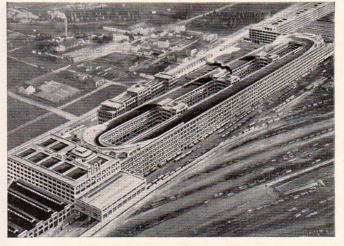 la pista sopraelevata Orig Torino FIAT-Werke a Torino sammelbild