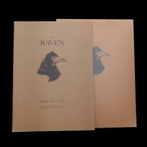 The Raven by Edgar Allan Poe in French and English Illustrated.