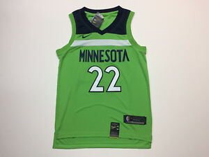 super popular c3c35 a6c5d Details about Andrew Wiggins #22 Minnesota Timberwolves Men's Neon Green  Jersey Statement