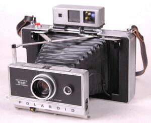 polaroid 250 automatic land camera instant manual original box vtg rh ebay com Polaroid 250 Land Camera Example Polaroid Land Camera 210