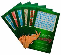 Christmas Nail Wraps Holiday Theme Nail Art Manicure Decal Stickers You Choose