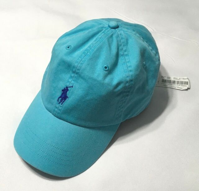 2f5aee7d0 Polo Ralph Lauren Men's Cotton Chino Baseball Cap Sports Hat Turquoise one  size