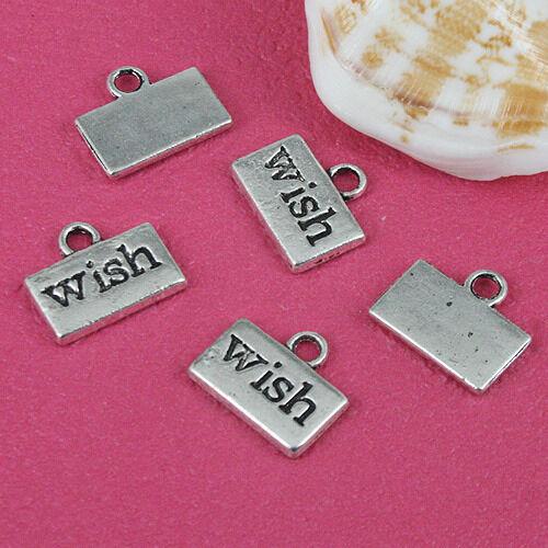 20pcs Tibetan silver wish little charms EF2075