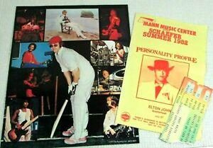 1979-ELTON-JOHN-Ticket-Stub-Tower-Theater-1982-QUARTERFLASH-Program-1977-Booklet