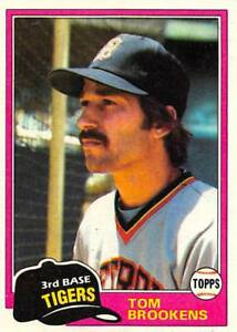 Details About 1981 Topps Baseball Cards Pick From List Includes Rookies 251 500