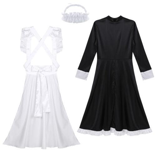 Women/'s Maid Cosplay Maids Costume Lolita Fancy Dress Cosplay Apron Headpiece