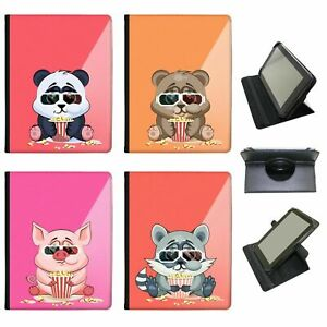 Animals-Wearing-Glasses-Eating-Popcorn-Universal-Leather-Case-For-Archos-Tablets