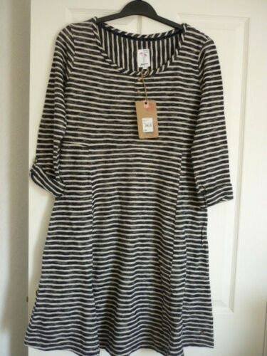40 14 Eur 5045475873969 10 Jersey Skater Navy Mantaray Striped Uk Us Dress 42 Textured Bnwt 80Cxzwq