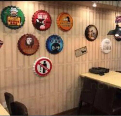 Hoegaarden Tin Beer Bottle Cap Sign Vintage Man Cave New Bar Office