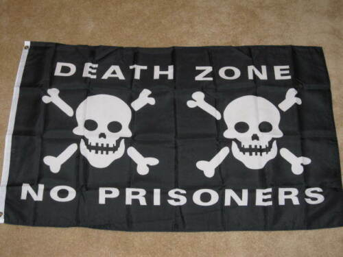 3X5 DEATH ZONE NO PRISONERS PIRATE FLAG NEW BANNER F106