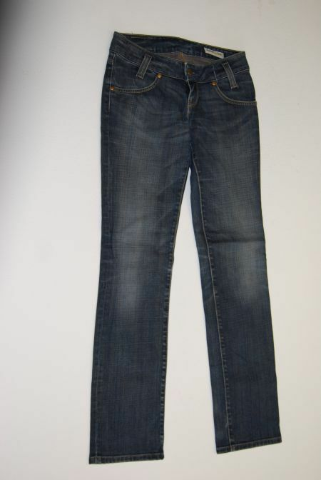 Lee Leola Straight Jeans Hose blue Stonewashed  W27 L33