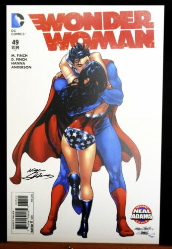 Wonder Woman #49 Superman Kiss Cover Fine Art Print by Neal Adams Signed!
