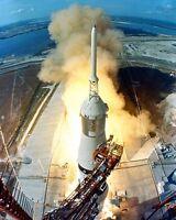 Apollo 11 Launch Saturn V Rocket 8x10 Photo Apollo 11 Mission NASA
