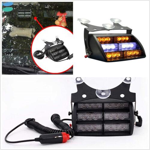 18LED 9W Amber /& White Car Autos Windshield Emergency Strobe Light Interior Lamp