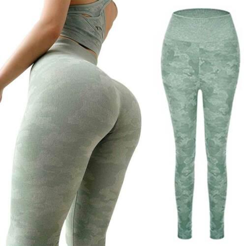 Women High Waist Gym Leggings Pockets Seamless Fitness Sports Yoga Pants Elastic