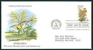 États-unis Fdc 1982 Oiseaux & Plantes Nebraska Oiseau Birds Bird Plant Oiesaux Cl66-afficher Le Titre D'origine Prix ModéRé