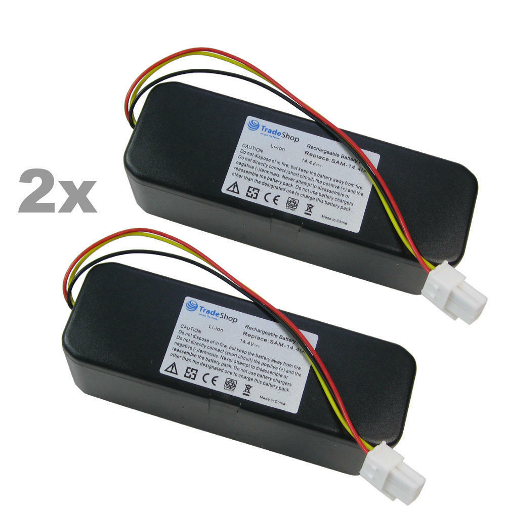 2x Li-Ion Akku 14,4V 5200mAh für Samsung Navibot SR8857 SR8875 SR8877 VCR8845T3A