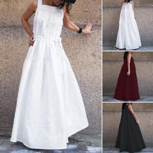 ZANZEA-8-24-Women-Plus-Size-Sleeveless-Sundress-Tiered-Layered-Long-Maxi-Dress
