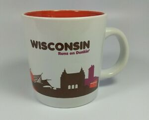 Dunkin' Donuts 2013 Destinations Coffee Mug WISCONSIN Runs on Collectible