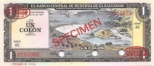 EL SALVADOR 1 Colon 1977 P-125a Christopher Columbus UNC Uncirculated