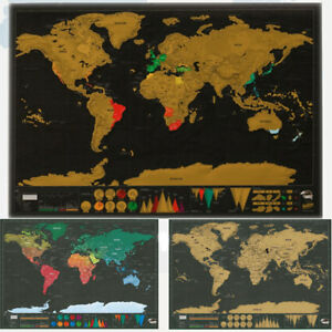Deluxe world map poster personalized travel edition scratch off log deluxe world map poster personalized travel edition scratch gumiabroncs Gallery