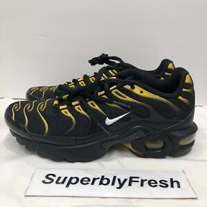 Nike Air Max Plus TN Tuned GS Blk Yellow Whte Vivid Sulfur 655020 ... de8c8a1755c