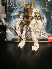 Lego Bionicle  8596 Takanuva Figure + Weapon + Instructions HTF Gold mask RARE