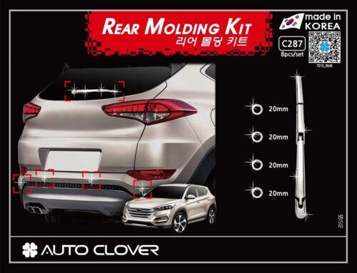 Autoclover Chrome Rear Wiper Arm/& Parking Sensor Molding for 2016 Hyundai Tucson