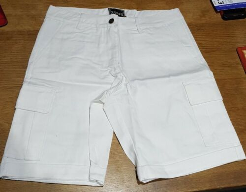 Womens White Combat Canvas Shorts 60/% Polyester 40/% Cotton By Brave New World