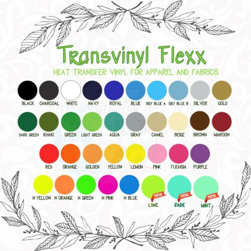 """Iron On HTV Heat Transfer Vinyl Bundle 25 Pack Assorted Colors 12/""""x10/"""" Sheets"""