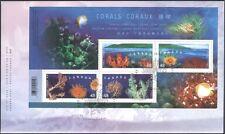 Canadá 2002 (edición conjunta de HK) Coral/Marine/conservación de la naturaleza/m/s FDC (b9512)