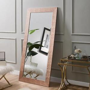 "Naomi Home Mosaic Style Mirror Rose Gold 65.5"" x 31.5"""