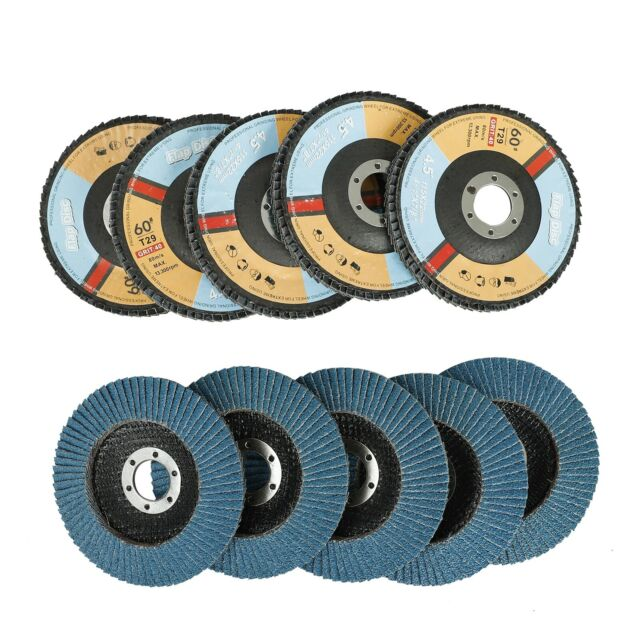 """50 FLAP DISCS  4-1//2/"""" in x 7//8/"""" A//O 60G for Sanding Sand paper Grinding Whe"""