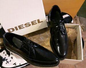best sneakers 9b8c3 bc6a0 Dettagli su Scarpe Creepers uomo/donna Diesel Kalling in pelle, nuove n. 40.