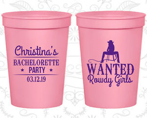 Bachelorette Party Favor Cups Cup Favors (60049) Rowdy Girls, Country