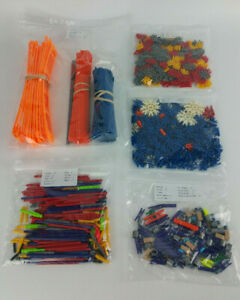 739-MICRO-KNEX-Parts-Pieces-Lot-Mini-Rods-Connectors-Track-Spacers-Clips-Adapter
