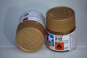 Tamiya Peinture Pot 10cl X12 Gold Leaf Or